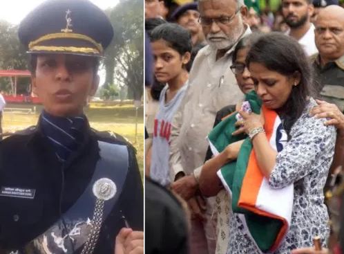 Martyr Major Kaustubh Rane wife joins army, fulfils husband dream