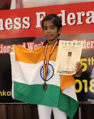 Arushi Srichandan bags 4 medals in Under-9 category at Asian School Chess in Sri Lanka