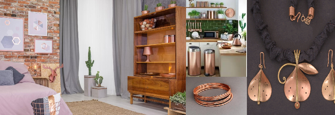 Make the most out of copper for decorating your home!