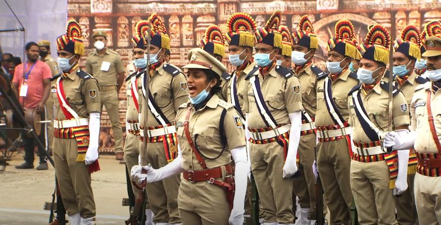 S Susree youngest IPS officers of Odisha cadre command the R-Day parade in capital city